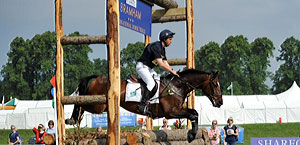 Rider at Bramham horse trials