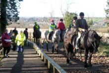 Riders at Hopwell Dale path opening