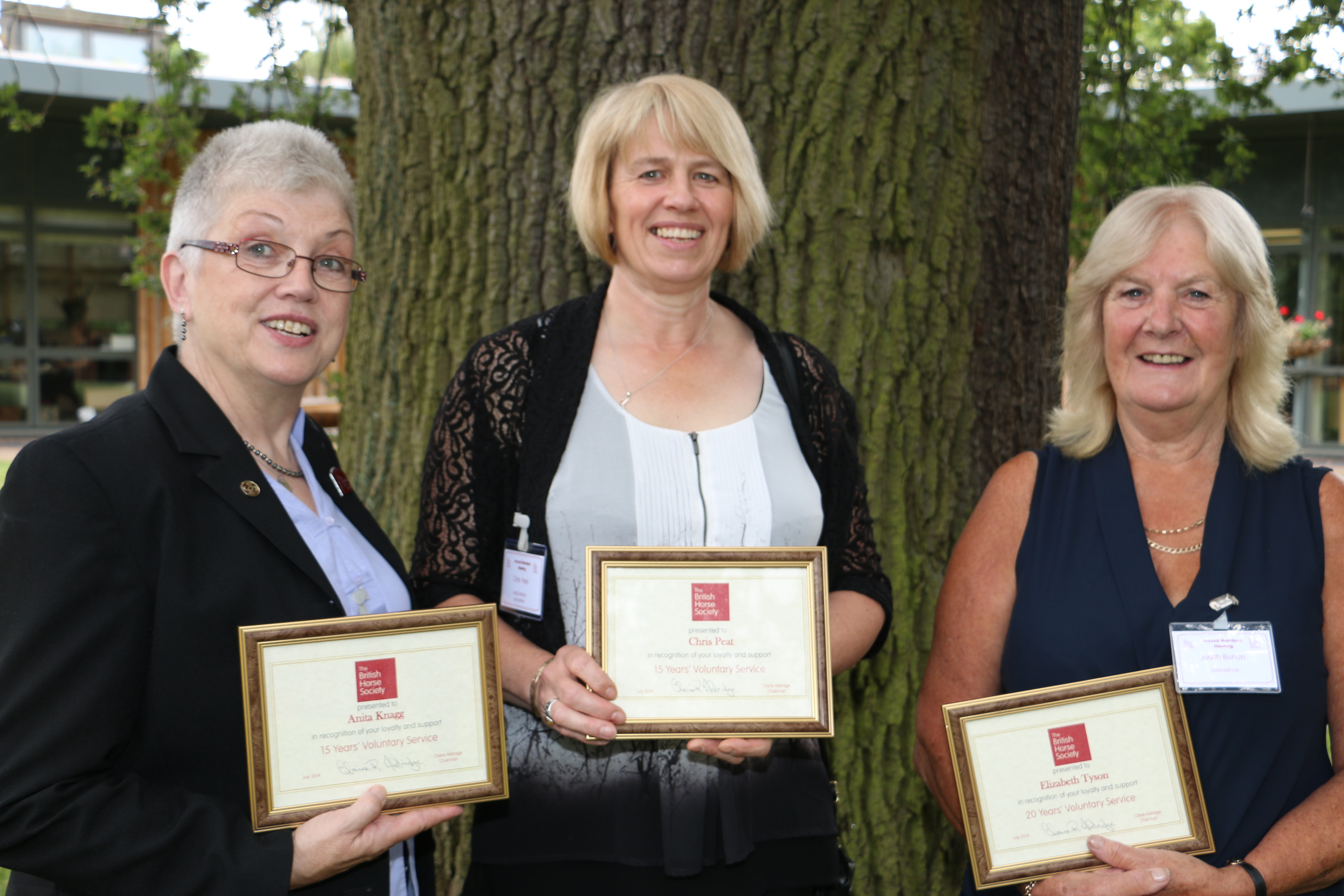 Celebrations As Five Volunteers receive their Long Service Award