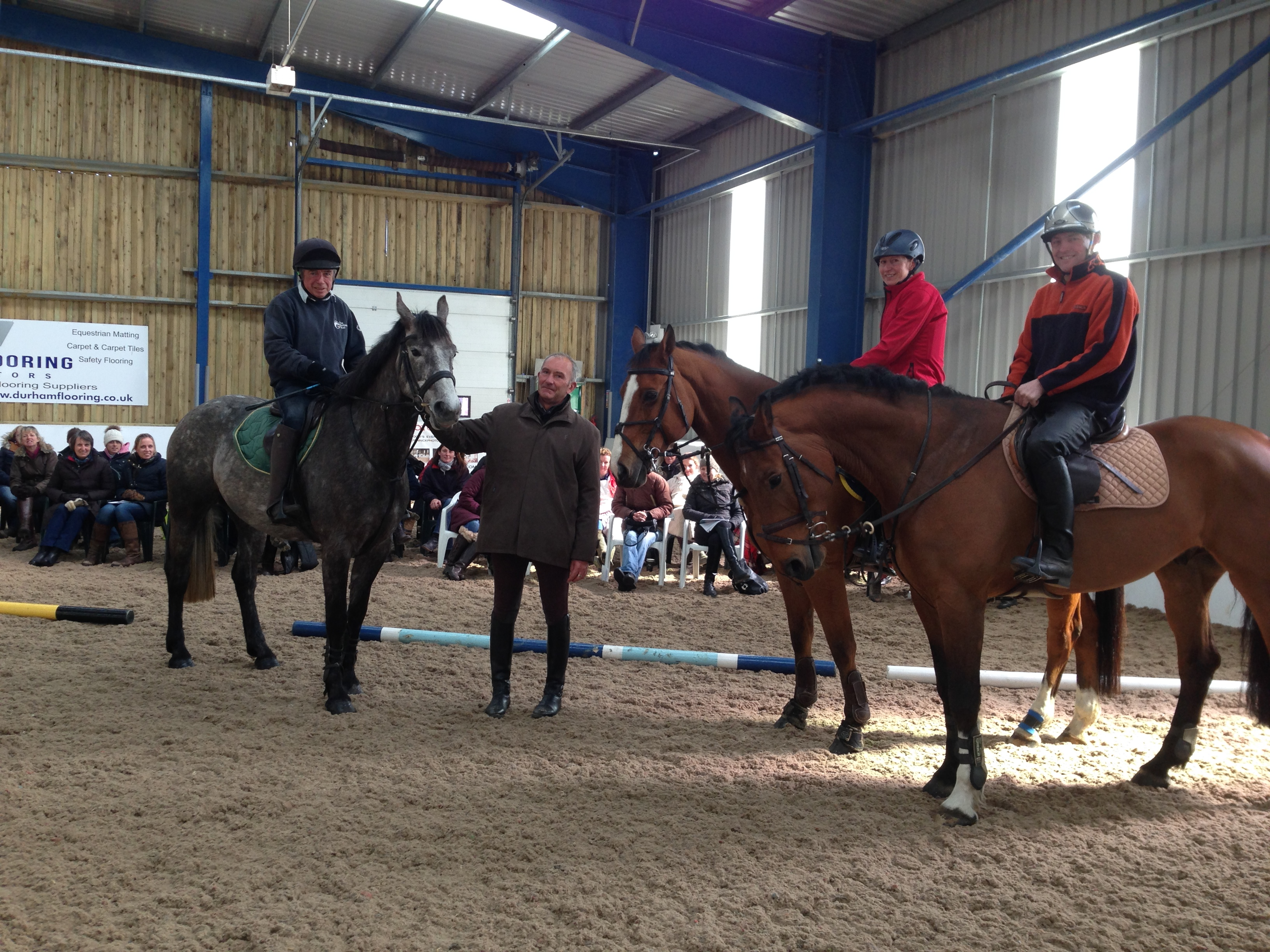 Rob Lovatt with demo riders at Sitting for Success CPD Day