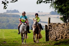Horses and riders in Gloucestershire