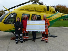 Cheque Presentation to Wiltshire Air Ambulance