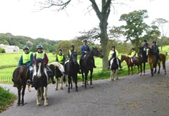 Riders enjoying one of the routes on the Penrose Estate