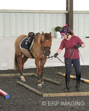 Intermediate Winners Claire Blizzard with Charlie