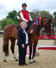 David Britnell with BHS CEO Lynn Petersen, after winning the Instructor's Challenge at Royal Windsor 2013