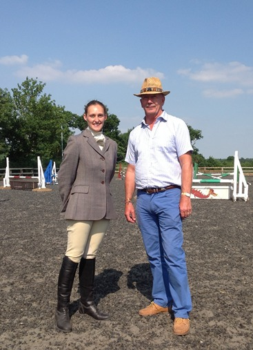 Successful qualifier Rachel Levy with Robert Pickles FBHS
