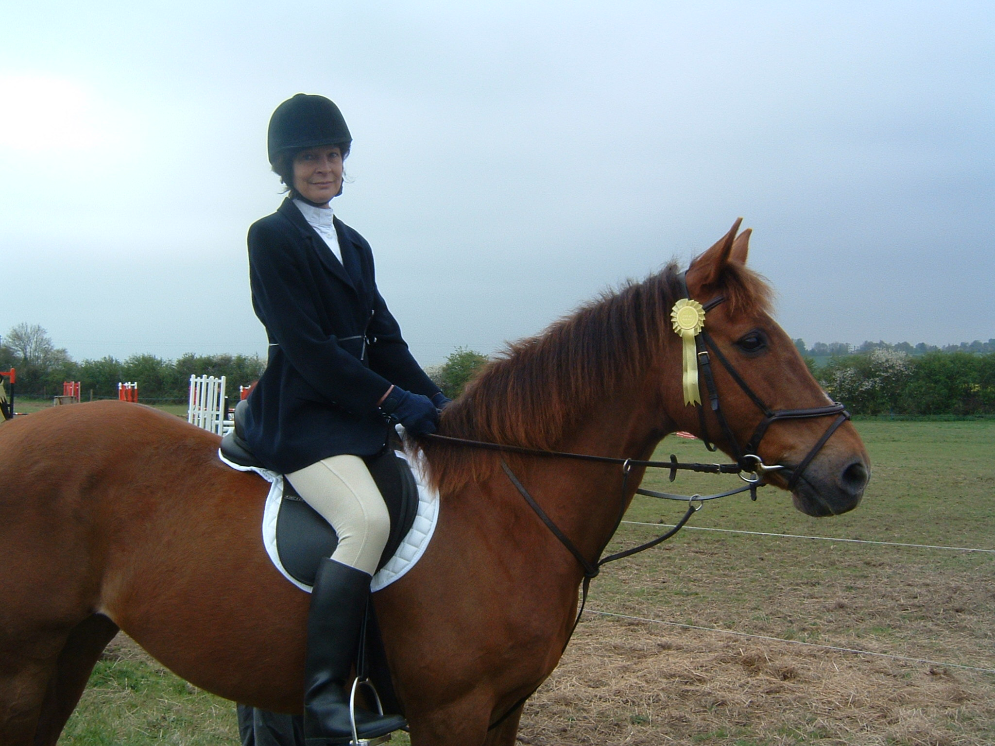 Troth and Copper after their embarrasing high-speed showjumping round!
