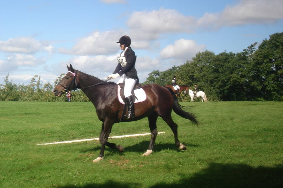 Lizzie dressage before