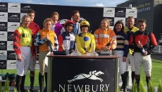 Image for The British Horse Society's inaugural charity race sees tense dead heat victory at Newbury