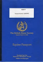 Old BHS passport cover