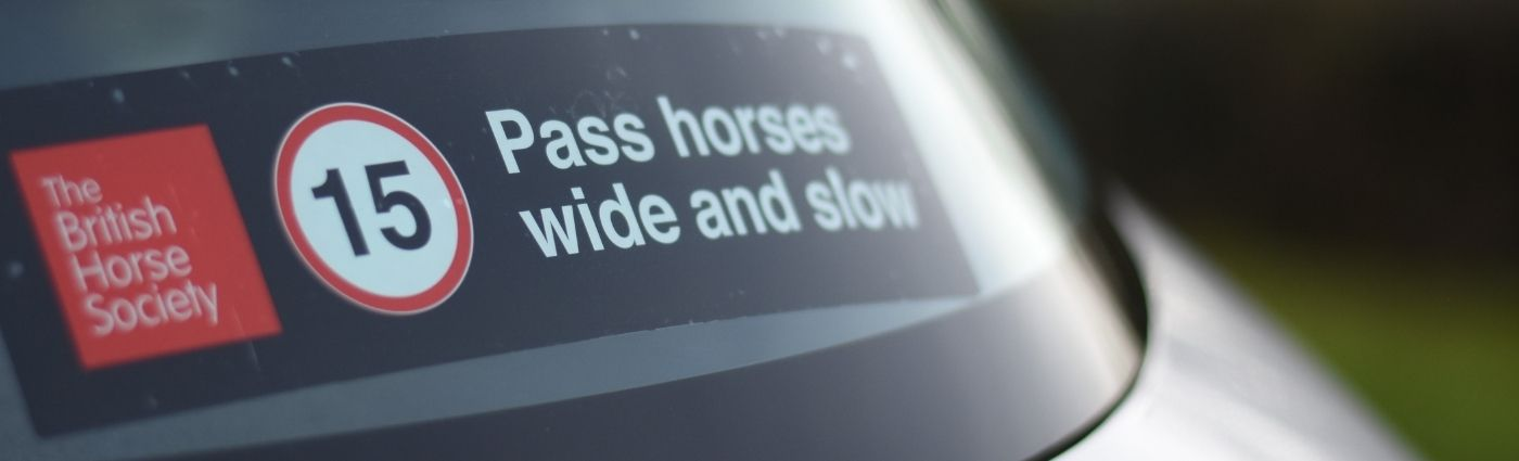 Pass Horses Wide and Slow Car Sticker