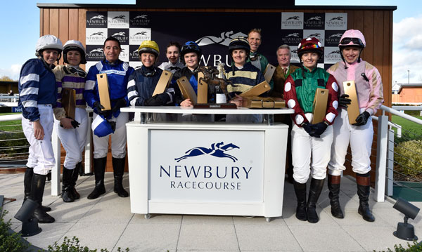 Newbury Charity Race Jockeys