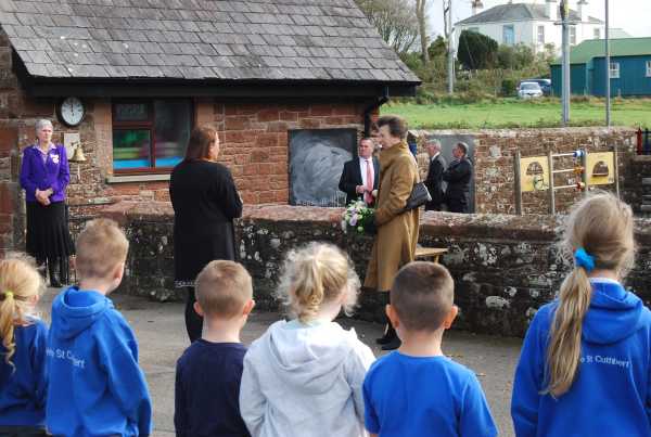 The Princess Royal at St. Cuthbert Primary School